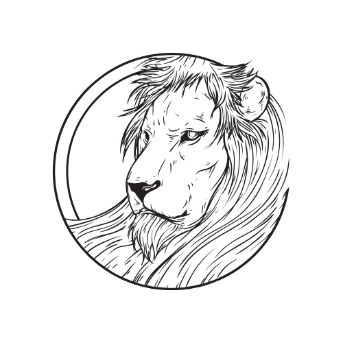 image: drawing of a Leo lion
