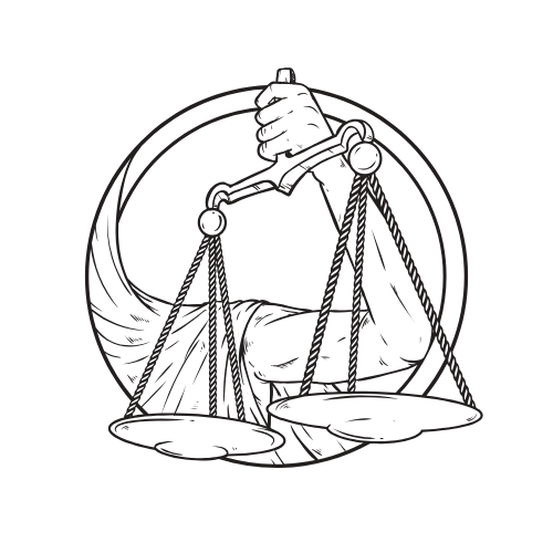 image: drawing of Libra scales
