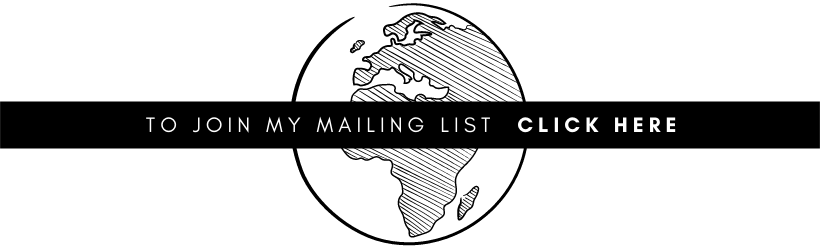 """image and text: """"To join my mailing list, click here"""" in a black box laid ontop of a drawing of the Earth"""